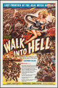"Movie Posters:Adventure, Walk into Hell (Patric, 1957). One Sheet (27"" X 41"") and Lobby CardSet of 8 (11"" X 14""). Adventure.. ... (Total: 9 Items)"