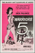 "Movie Posters:War, Warriors 5 (American International, 1962). One Sheet (27"" X 41"")and Lobby Card Set of 8 (11"" X 14""). War.. ... (Total: 9 Items)"