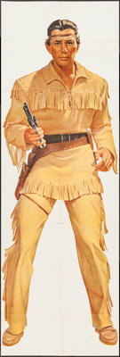"""The Lone Ranger Wheaties Poster (General Mills, 1957). Poster (25"""" X 75"""") Tonto Style. Western"""