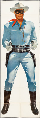 """The Lone Ranger Wheaties Poster (General Mills, 1957). Poster (25"""" X 75"""") Lone Ranger Style. Western"""