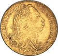 British West Indies, British West Indies: British Colonial West Indies gold ContemporaryImitation 6400 Reis 1756-R XF,...