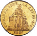 Chile, Chile: Republic gold 8 Escudos 1850 So-LA AU53 PCGS,...