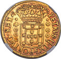 Brazil, Brazil: Pedro II gold 4000 Reis 1700/699-(R) XF Details (Removedfrom Jewelry) NGC,...
