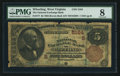 National Bank Notes:West Virginia, Wheeling, WV - $5 1882 Brown Back Fr. 477 The National ExchangeBank Ch. # (S)5164. ...