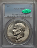 Eisenhower Dollars, 1973 $1 MS66 PCGS. CAC. PCGS Population (103/0). NGC Census: (27/1). Mintage: 2,000,056. Numismedia Wsl. Price for problem ...