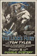 """Movie Posters:Serial, Jungle Mystery (Universal, 1932). One Sheet (27"""" X 41"""") Chapter 11 --""""The Lion's Fury."""" Serial.. ..."""