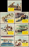 "Movie Posters:War, They Came to Cordura & Other Lot (Columbia, 1959). Title LobbyCard & Lobby Cards (6) (11"" X 14"") and One Sheet (27"" X41"").... (Total: 8 Items)"