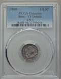 Early Half Dimes, 1800 H10C V-1, LM-1, R.3, -- Bent -- PCGS Genuine. VF Details. NGCCensus: (0/10). PCGS Population (0/3). Mintage: 40,000....