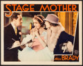 """Movie Posters:Drama, Stage Mother (MGM, 1933). Lobby Card (11"""" X 14""""). Drama.. ..."""