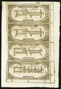 Obsoletes By State:Vermont, Woodstock, VT- Vermont State Bank Office of Discount & Deposit $1-$1-$2-$3 G166-G166-G173-G177 Uncut Remainder Sheet. ...