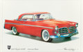Mainstream Illustration, Brian G. Liley (American, 20th Century). Chrysler 300Badvertisement, 1956. Color print. 15 x 22.75 in. (sight).Signed,...