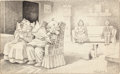 Mainstream Illustration, Wilder (American, 20th Century). The Old Folks Home, 1911.Ink on paper. 12.75 x 20.75 in. (image). Signed lower right. ...