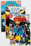 Modern Age (1980-Present):Superhero, New Teen Titans Short Boxes Group (DC, 1981-87) Condition: Average VF.... (Total: 2 Items)