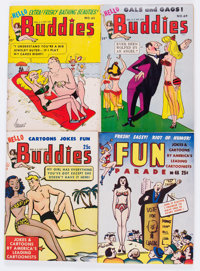 Army and Navy Fun Parade/Hello Buddies Adult Digest File Copy Long Box Group (Fun Parade, 1950s) Condition: Average VF...
