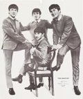 Music Memorabilia:Posters, A Lifesize Poster of The Beatles Measuring Over Six Feet Tall (UK,1960s)....