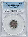 Early Half Dimes, 1795 H10C -- Bent -- PCGS Genuine. Fine Details. PCGS Population(15/497). NGC Census: (10/292). Mintage: 78,600. Numismedi...