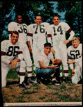 Football Collectibles:Photos, 1946 Cleveland Browns Multi Signed Magazine Photograph....