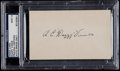 Baseball Collectibles:Others, Dazzy Vance Signed Index Card, PSA/DNA Mint 9....