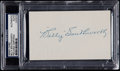 Baseball Collectibles:Others, Billy Southworth Signed Index Card....