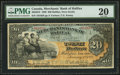 Canadian Currency: , Halifax, NS- Merchants' Bank of Halifax $20 Jan. 1, 1898 Ch. #465-20-18. ...