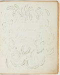 Books:Manuscripts, [Friendship Album]. Commercially published album/diary, sparselyillustrated with engraved plates and filled with manuscript...