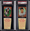 Baseball Cards:Lots, 1958 Hires Root Beer Pittsburgh Pirates Collection (8) With FiveGraded....