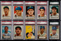 Baseball Cards:Lots, 1952 Topps Baseball Pittsburgh Pirates Collection (22) With ElevenGraded Cards....