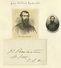 Group Lot of Three Confederate Generals' Autographs consisting of: E. Kirby Smith- 1892 signed longhand note. John