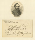 Autographs:Military Figures, Robert E. Lee's Family: Three Prominent Lee Autographs consistingof: . George Washington Custis Lee 1878 ALS. Son of th...