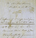 """Autographs:Military Figures, Confederate General John Herbert Kelly 1864 Endorsement. """"The BoyGeneral of the Confederacy"""" signs off on a report of store..."""
