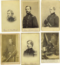 Autographs:Military Figures, Union Generals Cartes de Visite: A Group of Six. Consisting of Banks (J.O. Kane, New York), Grant (W.I. Pooley, New ...