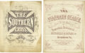 "Military & Patriotic:Civil War, Lot of Original Confederate Sheet Music Grouping of four Confederate imprints, 4to (9.5"" x 11.75""), strong colors, moderate ... (Total: 4 )"