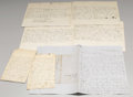 Military & Patriotic:Civil War, Group of Virginia Civil War Letters, Passes, and Commissions . A group of Civil War letters, commissions, and passes to thre...