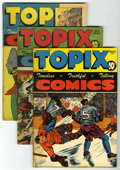 "Golden Age (1938-1955):Religious, Topix Group - Davis Crippen (""D"" Copies) pedigree (CatecheticalGuild, 1946-48). Golden Age group that features ""Timeless, T...(Total: 5 Comic Books)"