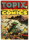 "Golden Age (1938-1955):Religious, Topix V5#10 Davis Crippen (""D"" Copy) pedigree (Catechetical Guild,1947) Condition: VF-. Contains stories about heroic peopl..."