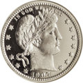 Proof Barber Quarters: , 1907 25C PR67 Ultra Cameo NGC. This Superb proof is a stunning Gem with exceptional surfaces. The obverse and reverse have ...