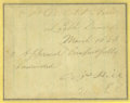 Autographs:Military Figures, Confederate General A. P. Hill War-Date Autograph Endorsement. Clipped March 15, 1863, endorsement in his hand and signed. A...