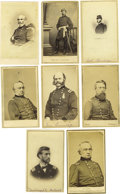 Autographs:Military Figures, Cartes de Visite of Eight Union Generals. A very nice lot of scarce images, consisting of Willoughby Babcock (Almy &...
