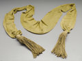 Military & Patriotic:Civil War, Confederate General Officer's Gold Sash, a scarce Confederate general's sash similar to what Lee and Stuart would have worn....