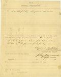 Autographs:Military Figures, Group Lot of 11 Confederate Generals' Autographs consisting of:.John Echols- Clipped signature with his rank below.. ...