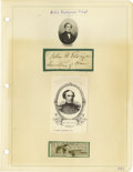 Autographs:Military Figures, Group Lot of Ten Confederate Generals' Autographs consisting of:. Charles W. Field- 1889 ALS.. Joseph Finnegan- Leng...