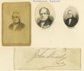 Autographs:Inventors, Group Lot of Seven Confederate Political Leaders Autographs consisting of: . John Letcher (Virginia governor 1860-1864)-...