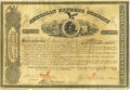 Autographs:Statesmen, An 1861 American Express Stock Certificate, Signed by Founders Henry Wells & William Fargo. Elegant graphics on this scarce ...