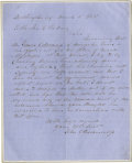 Autographs:Military Figures, John C. Breckinridge, Later a Confederate General, Autograph LetterSigned, March 1853. John Cable Breckinridge served as a ...