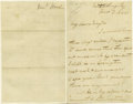 Autographs:Military Figures, Confederate General John Bell Hood War Date Autograph LetterSigned. This autographed, signed letter from one of the South's...