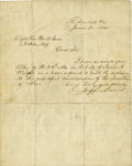 Autographs:Statesmen, Jefferson Davis War-Date Autograph Letter Signed. An ALS written atRichmond, June 5, 1861, to the Right Rev. Wm. McGreen, J...