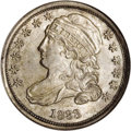 Bust Dimes: , 1833 10C MS64 NGC. JR-9, R.2. This variety is most easilyattributable by star 13 which is close and presents two pointsto...