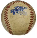 Autographs:Baseballs, 1983 Philadelphia Phillies Team Signed Baseball. The 1983 NLpennant winners have checked in on this official World Series ...