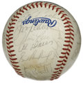 Autographs:Baseballs, 1984 American League All-Stars Team Signed Baseball. Thirty-twosignatures grace the surface of the offered official 1984 A...