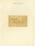 Military & Patriotic:Civil War, Group Lot of Ten Confederate Generals' Autographs consisting of: . Bradley Tyler Johnson- Large, bold clipped signature....